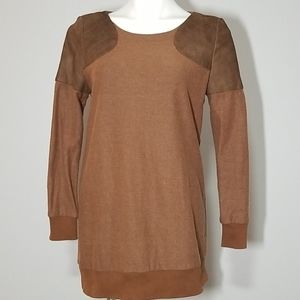 Lucette Wool Blend Brown Tunic